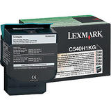 Lexmark C540H1KG Original Black Return Program Toner Cartridge High Yield