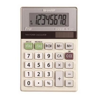 sharp calculator. sharp el-310tb 8-digit large 3-key memory calculator sharp b
