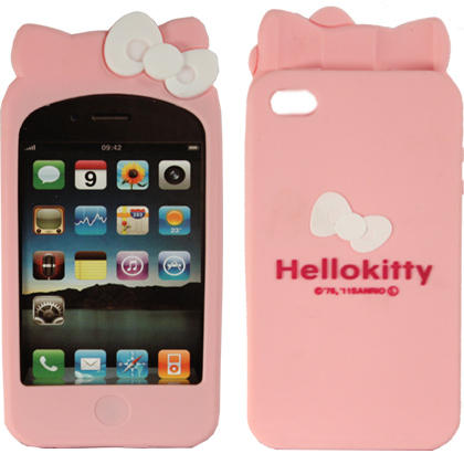 iPhone 4|4S Hello Kitty Silicone Case with 2 Bowknots – colors available