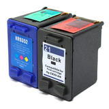 Remanufactured HP 21 HP 22 Black and Color Ink Cartridge Combo