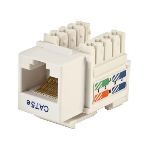 cat5e punch down keystone jack white primecables at rh primecables ca House Cat 5 Wiring Diagram Home Cat 5 Wiring Diagram
