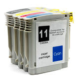 Remanufactured HP 10 HP 11 Black and Color Ink Cartridge Combo High Yield