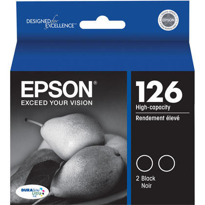 Epson T126120-D2 Original Black Ink Cartridge High Capacity - Twin Pack