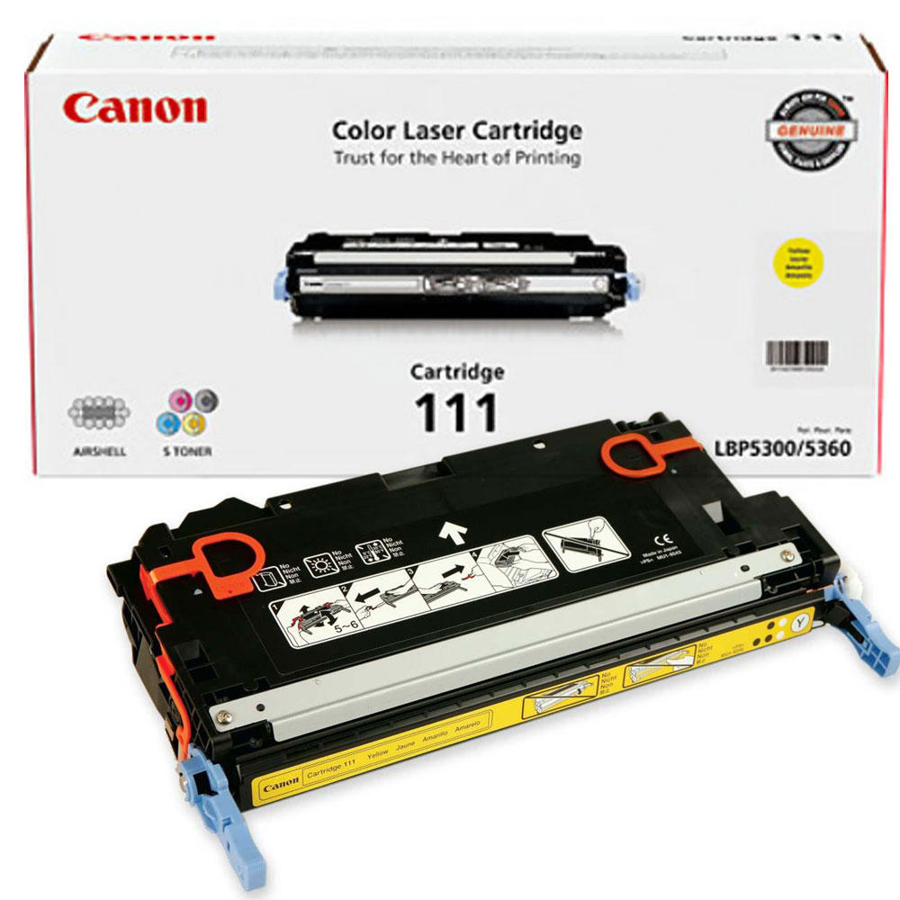 Canon 111Y 1657B008 1657B001AA Original Yellow Toner Cartridge