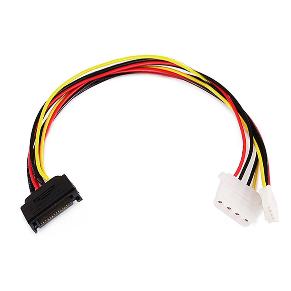 12inch SATA 15pin Male to 4pin Molex and 4pin Power Cable - Monoprice
