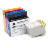 Epson T124 Compatible Ink Cartridges Combo BK/C/M/Y - Moustache®