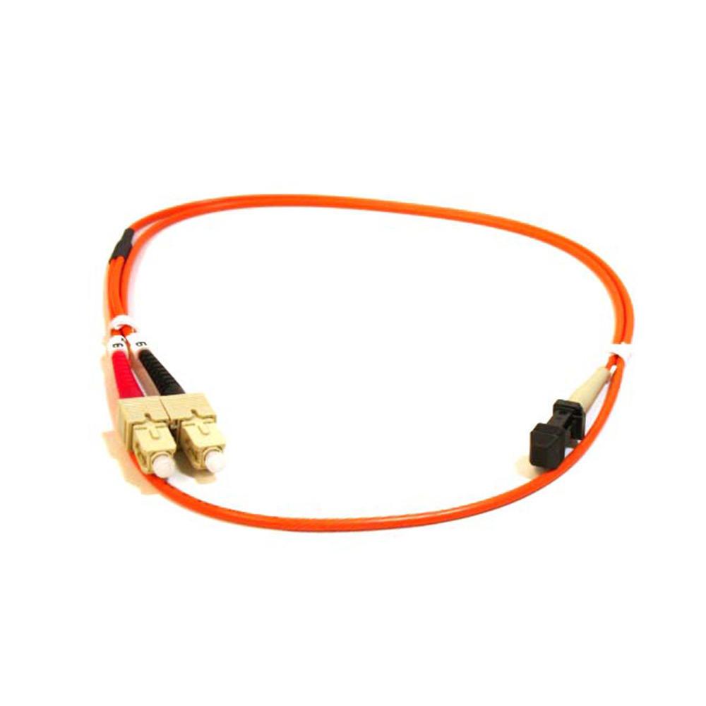 Fiber Optic Cable, OM1 MTRJ(Female)|SC, Multi Mode, Duplex (62.5|125 Type) – Orange – Monoprice