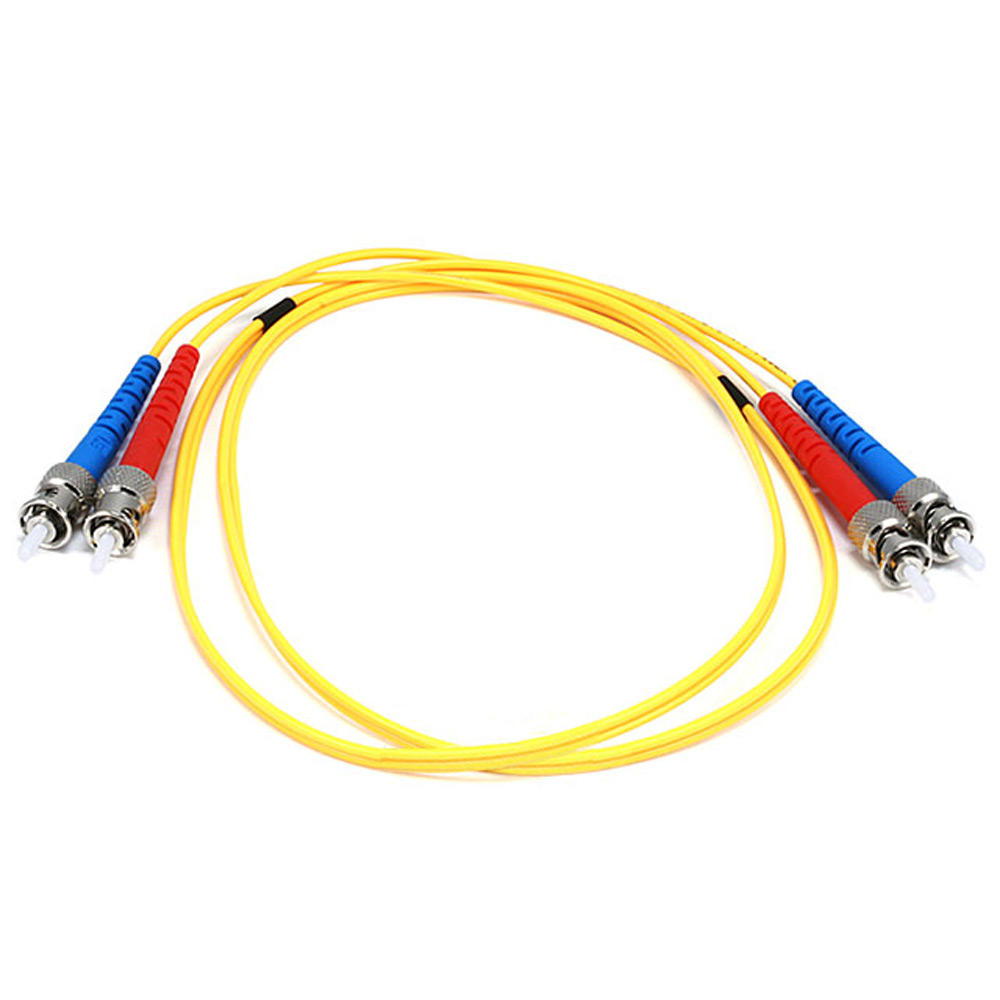 Fiber Optic Cable, ST|ST, Single Mode, Duplex – 1 Meter (9|125 Type) – Yellow – Monoprice
