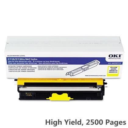 medium 55f9e Okidata Okidata 44250713 Y OEM Oki C110 Okidata 44250713 Original Yellow Toner Cartridge High Yield  - Significant Deals on the 44250713 Okidata MC160MFP Yellow High Yield Toner Cartridge