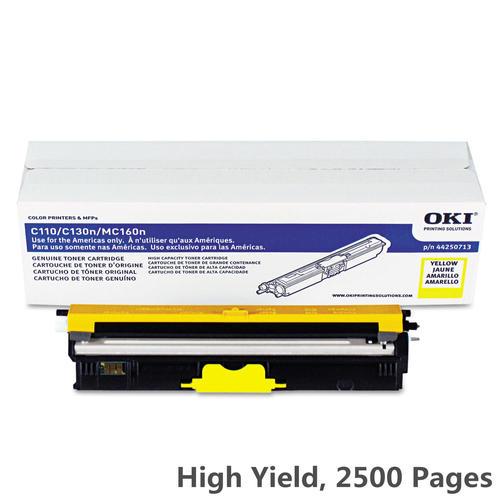 medium plus 55f9e Okidata Okidata 44250713 Y OEM Oki C110 Okidata 44250713 Original Yellow Toner Cartridge High Yield  - Significant Deals on the 44250713 Okidata MC160MFP Yellow High Yield Toner Cartridge