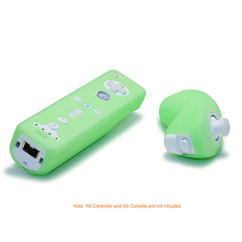 Silicone Skin for Wii Remote Control and Nunchuk - Green