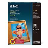 "EPSON S041141 20 Sheets Photo Paper, Glossy, 8.5"" x 11"""