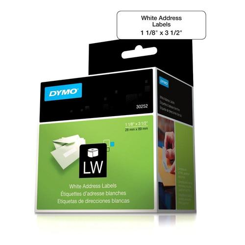 dymo 30252 original 350 roll labels address label black on white 1
