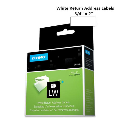 dymo 30330 original return address labels black on white 34 x 2 19mm x 51mm