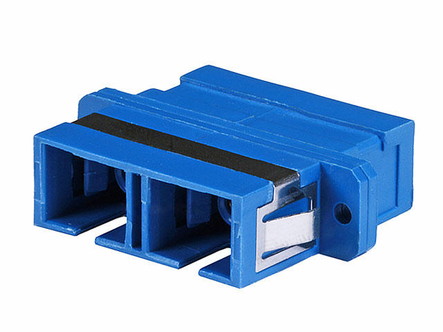 Multimode SC|SC Duplex Fiber Optic Adaptor, Plastic Body – Monoprice