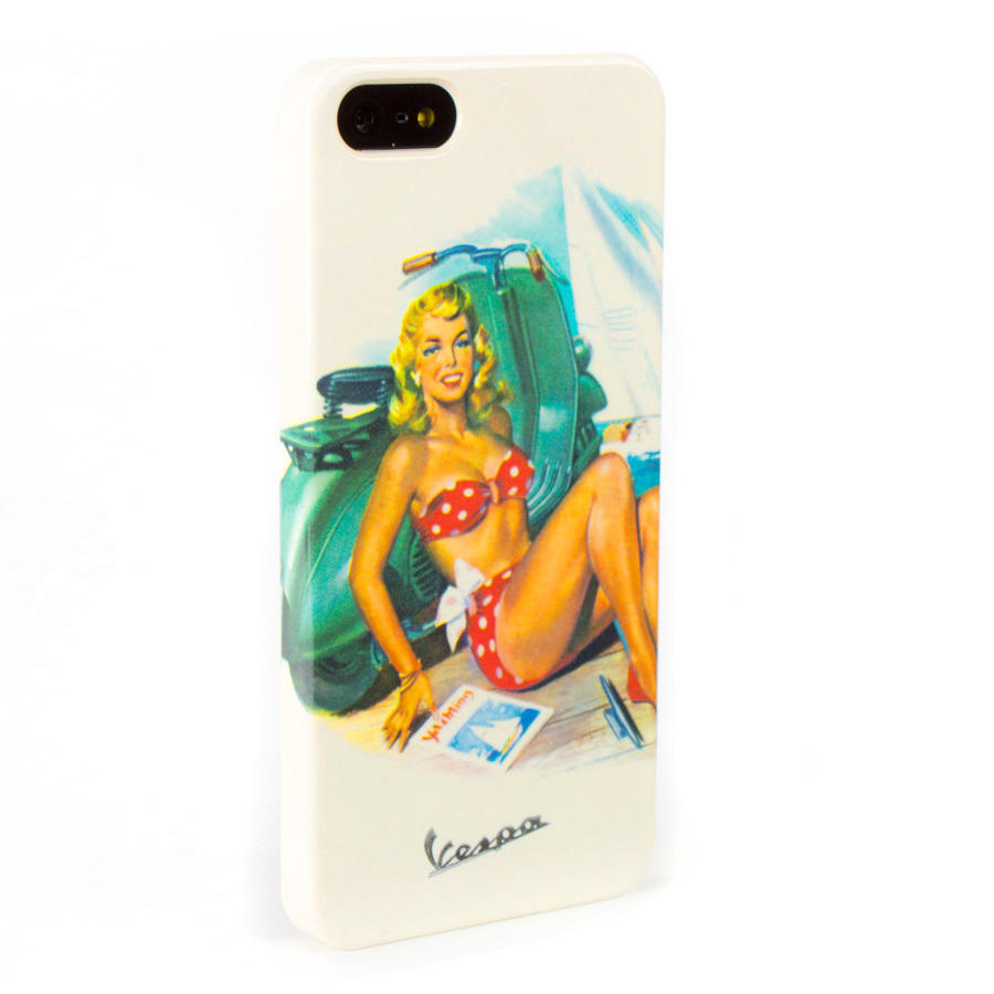 Vespa Pinup Hard Case for iPhone SE & iPhone 5|5S, Beach