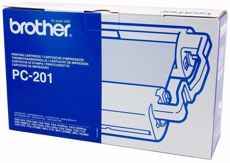 Brother PC201 Original Thermal Transfer Black Ribbon Fax Cartridge