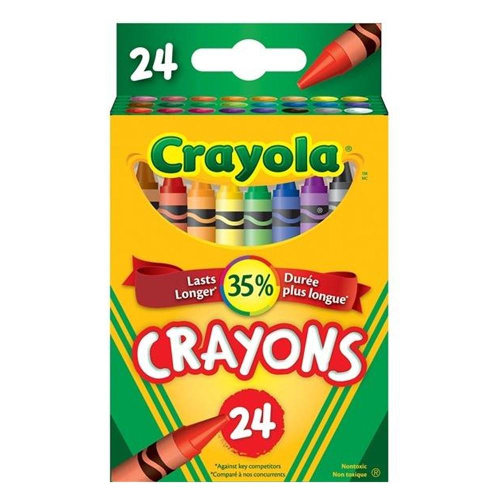 crayola non toxic crayons 24 colours 266478