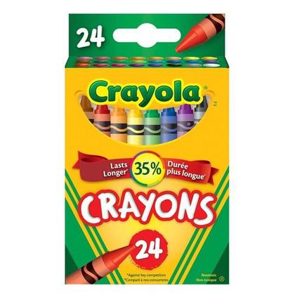 Crayola Nontoxic Crayons 24 Colours 123InkCartridges 123Inkca
