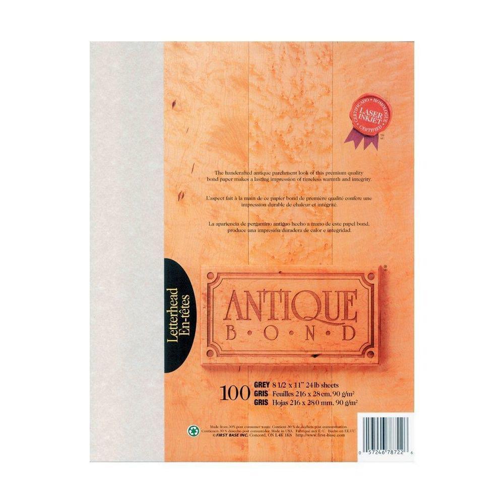 First Base Antique Bond Paper, 24 lbs, 8.5\