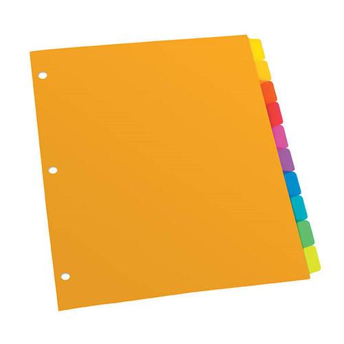 medium plus 71db0 oxford 735 pl213 10rbw dividers oxford poly plain tab dividers 1 10 10