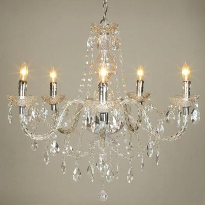 Crystal Acrylic Chandelier 5 Lights At Lightingbox Com Canada