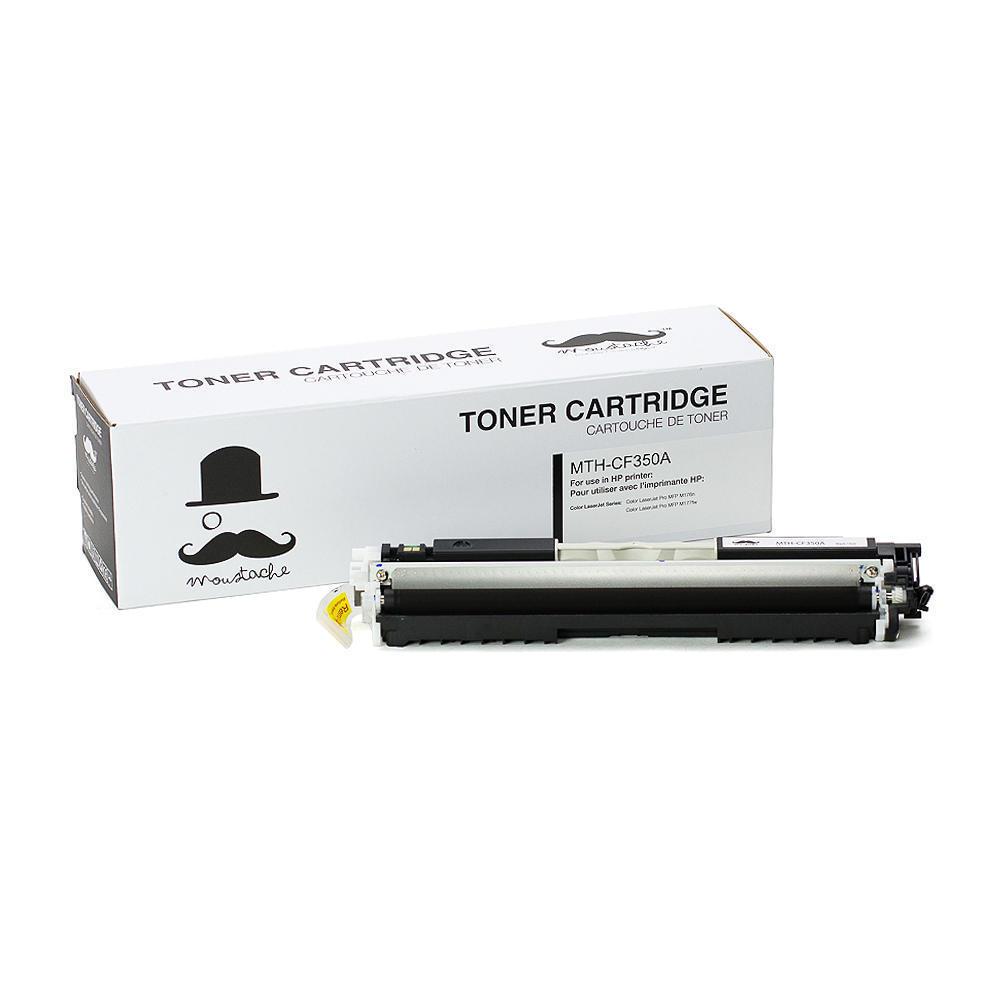 compatible hp 130a cf350a black toner cartridge moustache