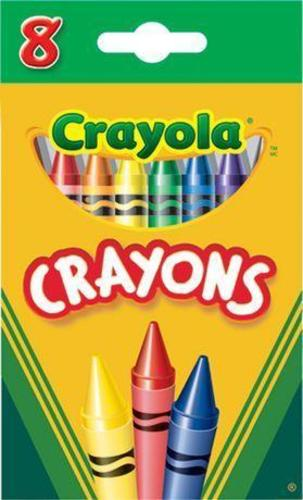 crayola non toxic colour crayons 8 colours 266486