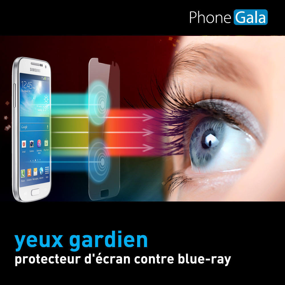 Samsung Galaxy S4 Anti Blue Ray Eyes Protection Transparent Screen Protector SP-BRs4