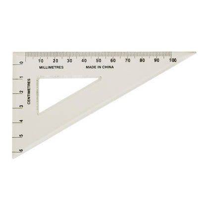 Westcott@ 60mm x 100mm 30°-60 Clear Triangle , 317776