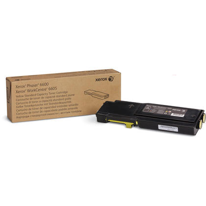 Xerox 106R02243 Original Yellow Toner Cartridge For Phaser 6600 WorkCentre 6605 Printer