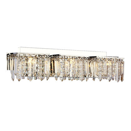 Luxury Crystal Chrome Finish 3 Lights Wall Lamp Modern Lighting For Bathroom Bar Hallway