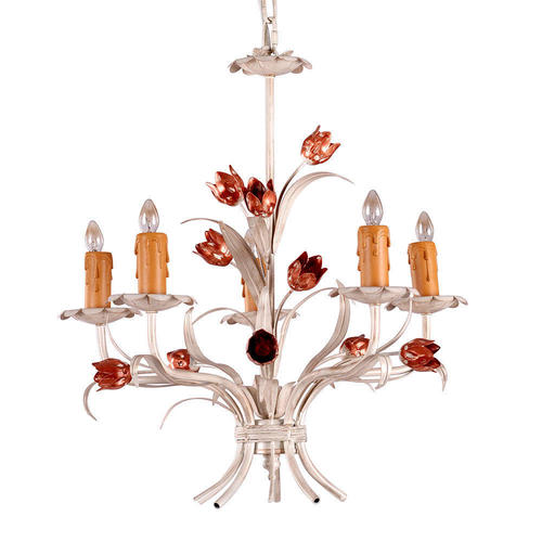 White painted iron 5 lights mini chandelier living canada medium plus b0469 lightingbox c6070c5 a chandeliers white painted iron 5 lights mini chandelier aloadofball Image collections