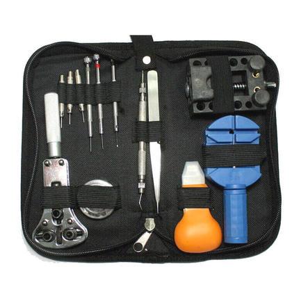 kit de r paration de montre set 13 pi ces dragonne adjust pin outils kit back remover fix profession. Black Bedroom Furniture Sets. Home Design Ideas