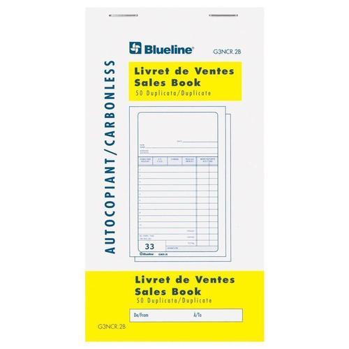 blueline sales book 50 duplicates carbonless copy