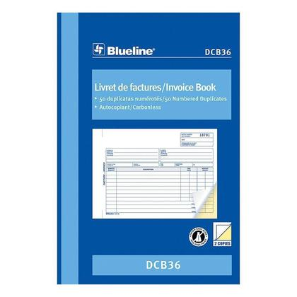 Medium B4e33 Blueline N 335 D Cb36 Accounting And Business Forms Blueline Blank  Invoice Book Carbonless  Copy Of A Blank Invoice
