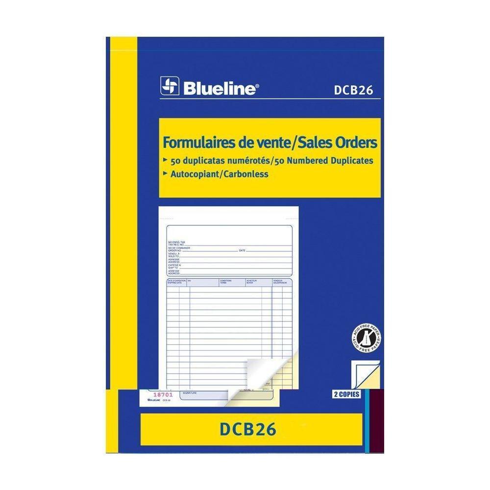blueline sales orders carbonless copy