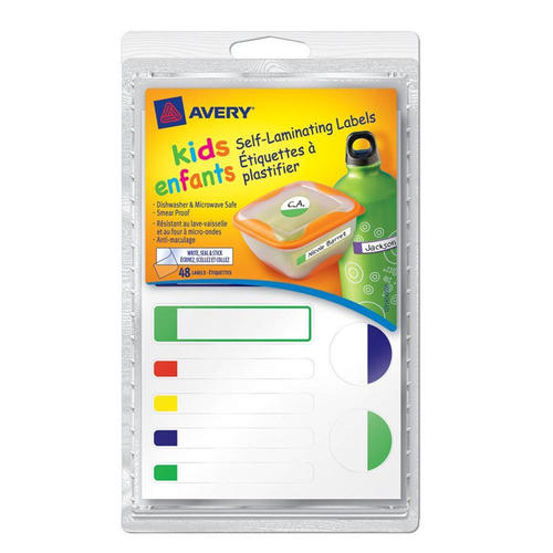 avery kids self laminating labels 4 x 6 48 pack