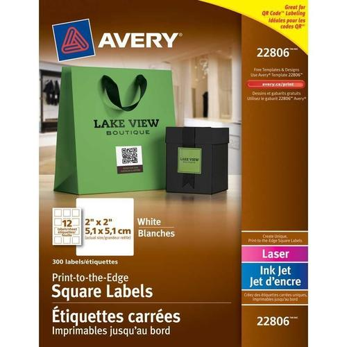 avery print to the edge laser inkjet square labels 1 2 x 1 2