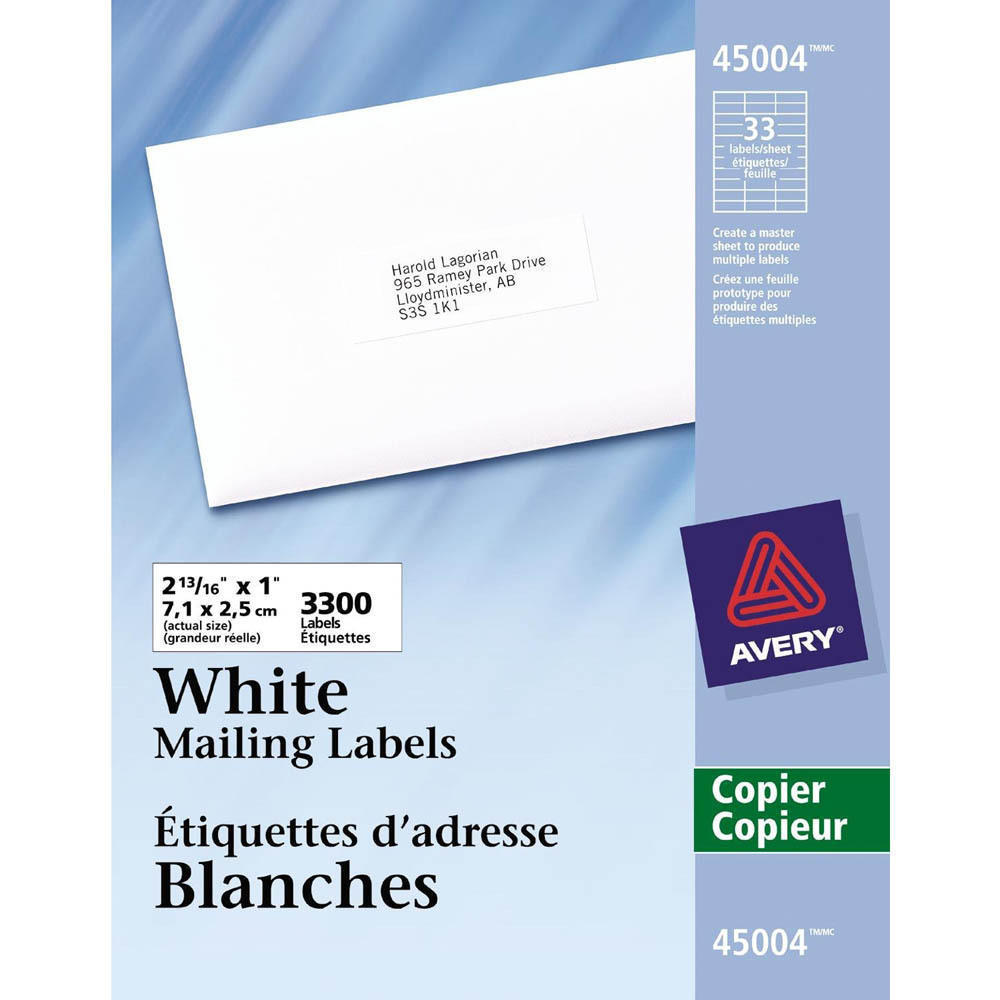 avery white mailing address labels for copiers white