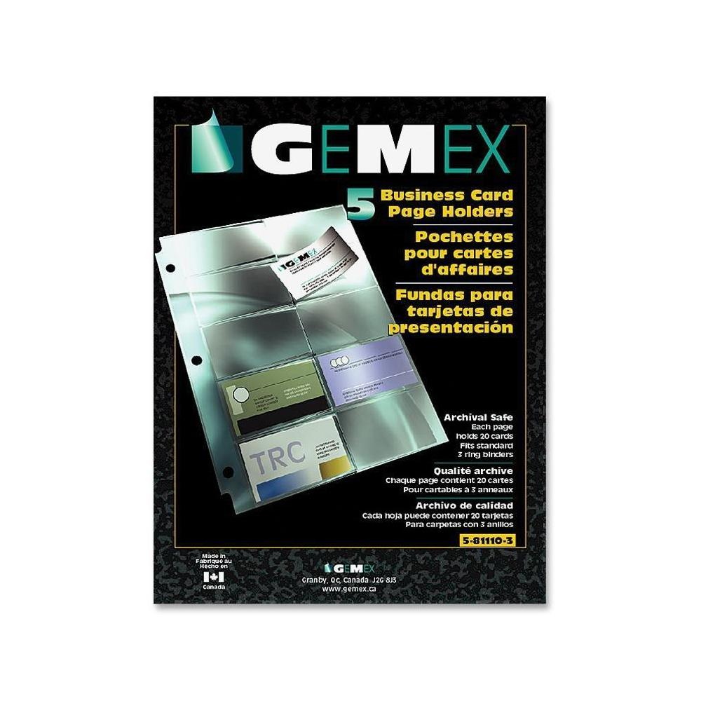 Gemex® Business Card Page Holder with Archival Quality ...