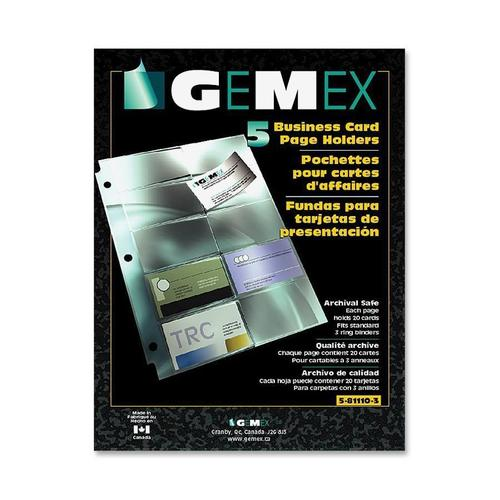 Gemex business card page holder with archival quality medium plus 4bd11 other brands n 522 5 81110 3 sheet protector gemex business card page colourmoves