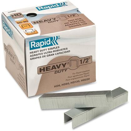 "Rapid 1/2"" 3/8"" Heavy Duty Staples, Box of 5000"