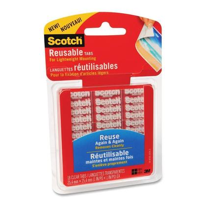 3m Scotch Reusable Double Sided Mounting Tapes Package Of 61872