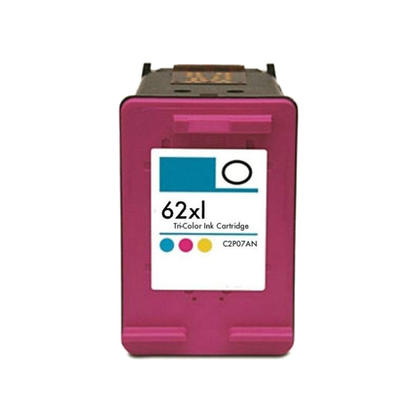 remanufactured hp 62xl c2p07an tri color ink cartridge high yield 123inkcartridges canada. Black Bedroom Furniture Sets. Home Design Ideas