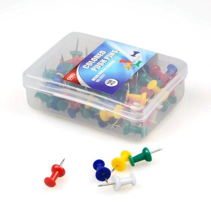DELI 0031 Colourful Thumb Tacks Decorative Push Pins (Assorted ...
