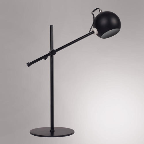 Vintage Industriel Iron Noir Lampe De Table A 1 Ampoule