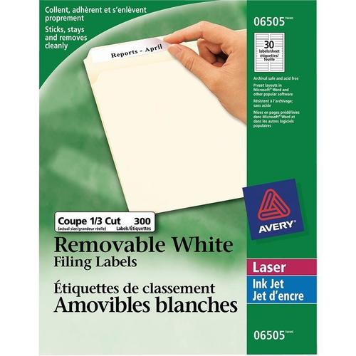 avery laser inkjet removable filing labels 3 7 16 x 2 3 300