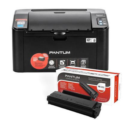 Pantum P2500W Imprimante Laser Monochromes Avce Un PB-211 Cartouche