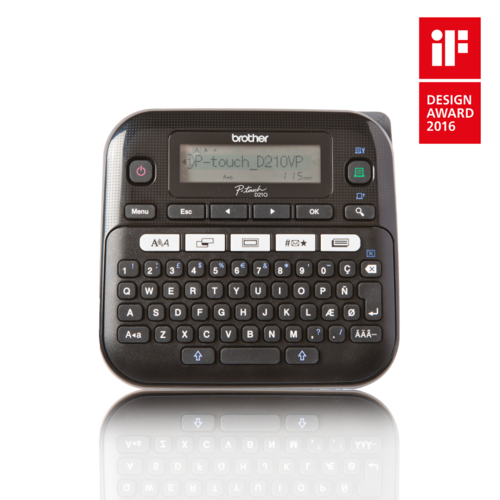 brother p-touch® pt-d210 electronic desktop label maker